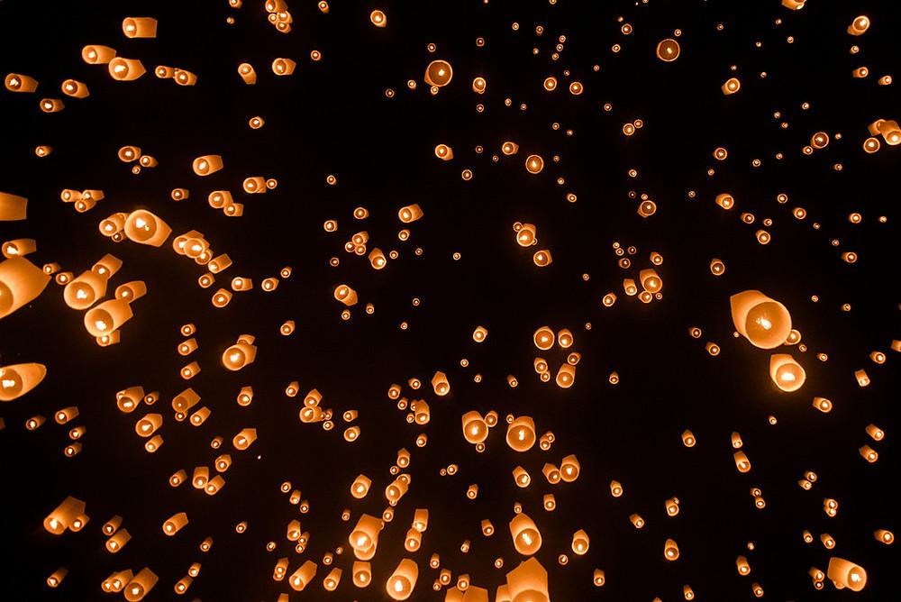 festival de lumières Yi Peng  Loy Kratong  Chiang Mai