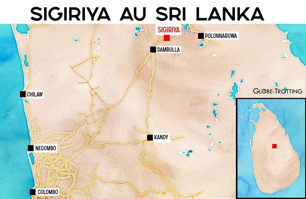 Carte Sigiriya plan