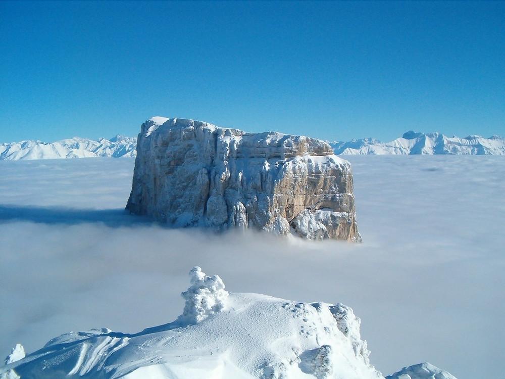 Mont Aiguille neige
