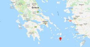 carte SANTORIN en Grèce