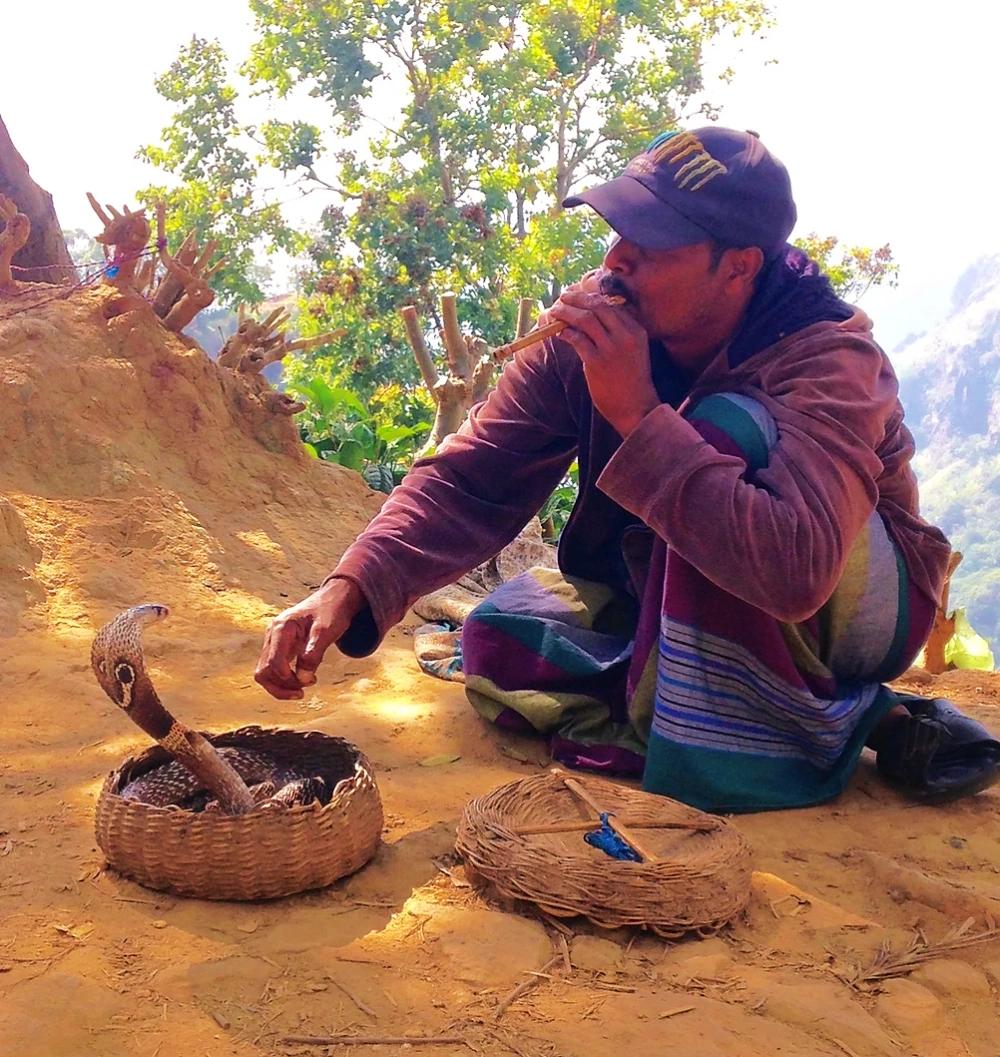 Little Adam Peak charmeur de serpent Sri Lanka