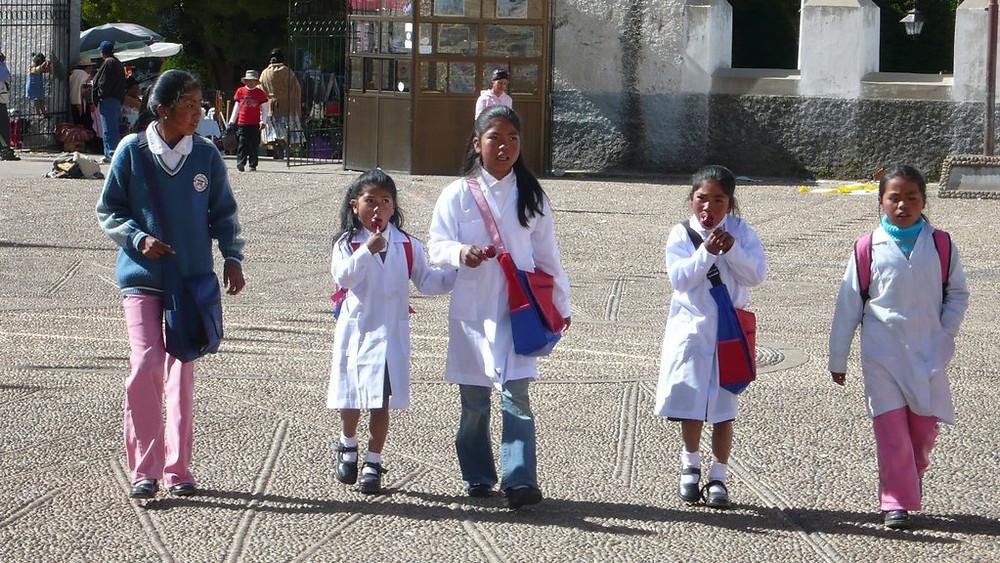 Enfants écoliers Copacabana