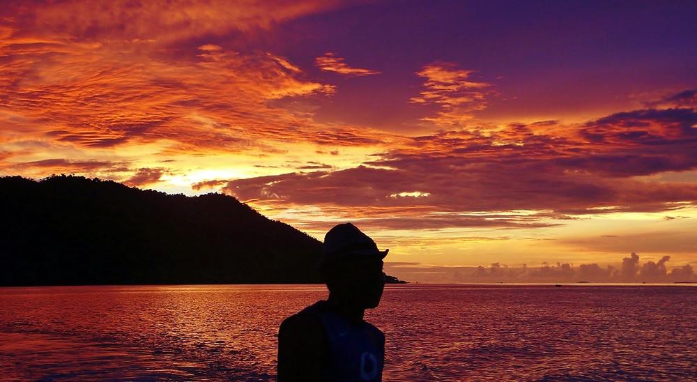 coucher de soleil Raja Ampat