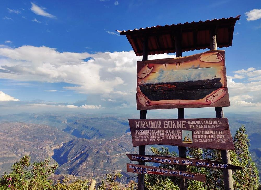 Mirador Zapatoca Colombie