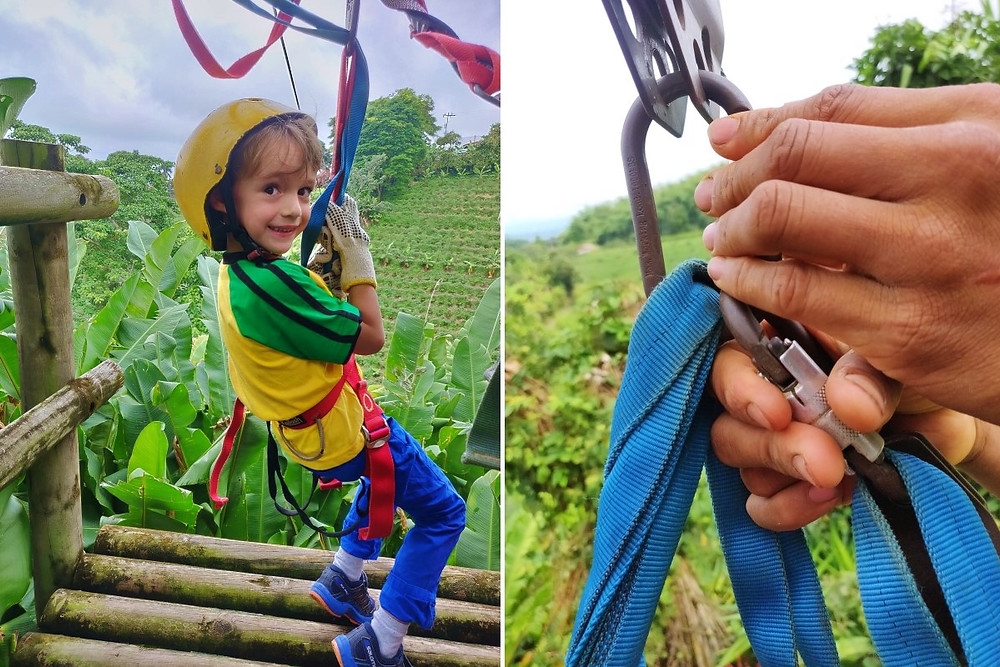 Tyrolienne enfant 5 ans colombie