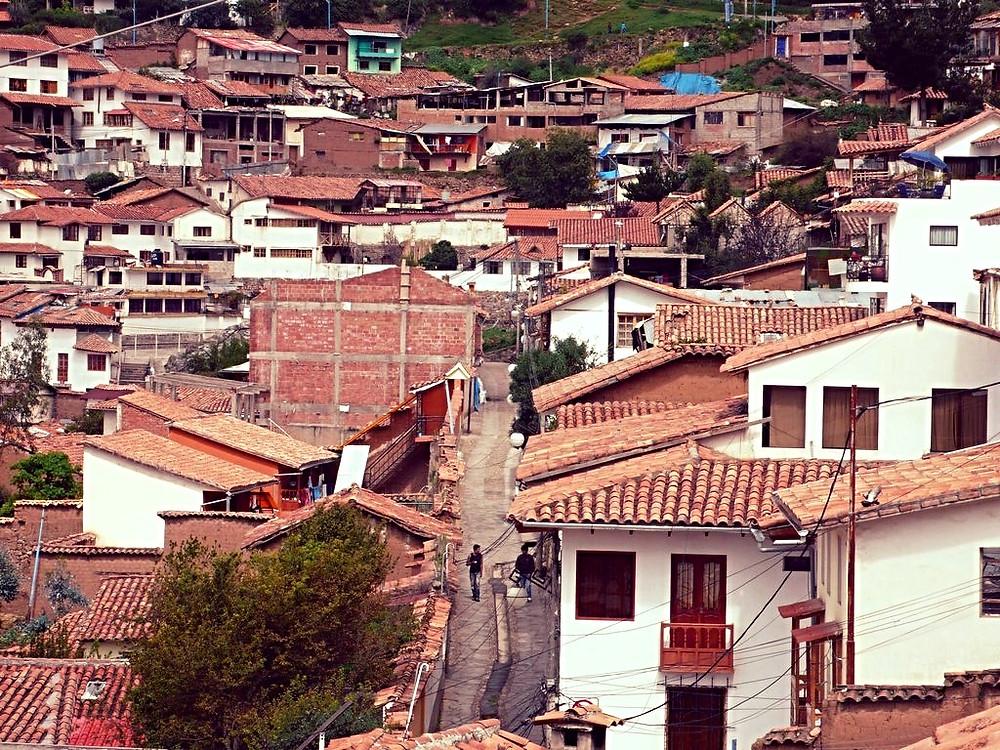 Vue sur San Blas à Cusco