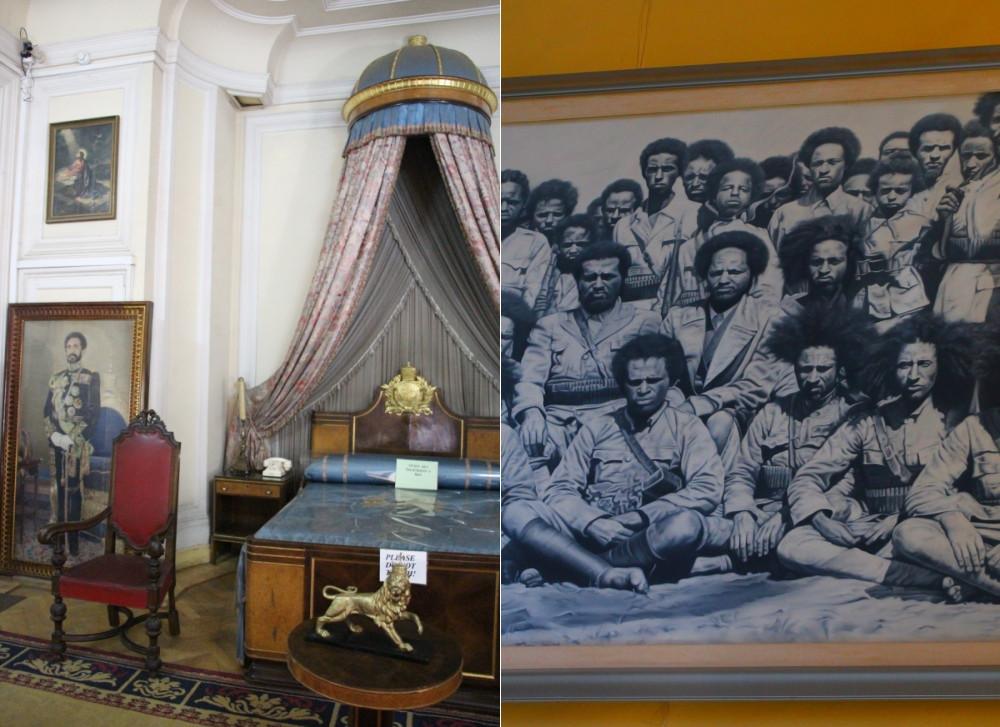 Musée ethnographique Addis Abeba chambre Haile Selassie