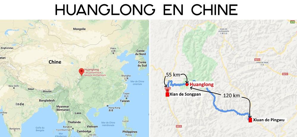 Carte Huanglong Chine