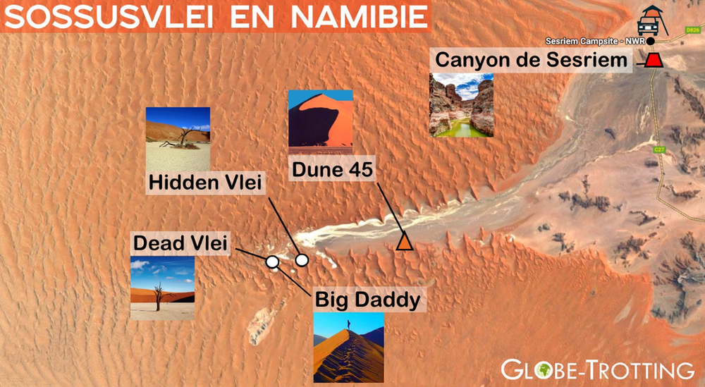 Sossusvlei carte map
