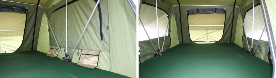 roof tent à l'intérieur