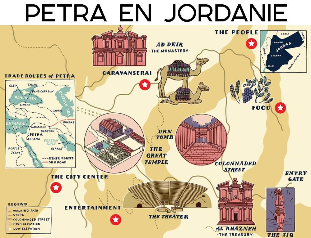 plan de la cité de Pétra