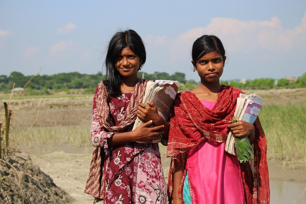 jeunes filles Sundarbans au Bangladesh