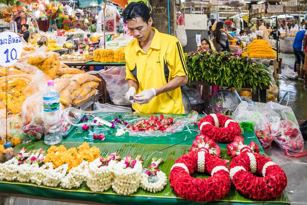 marché aux fleurs bangkok