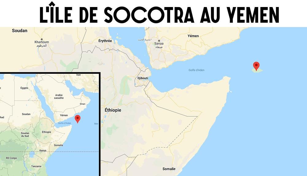Carte socotra yemen