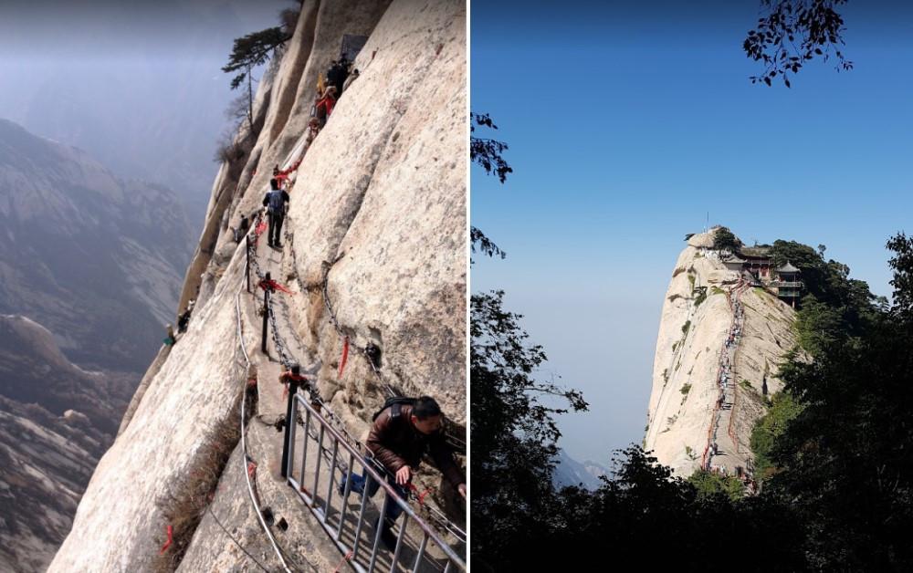 montée Mont Hua Shan Montagne de l'Ouest chine