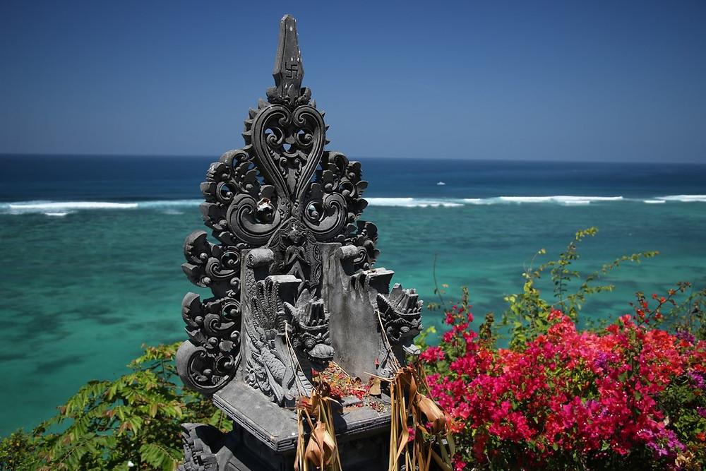 Mer bleue Plage de rêve Nusa Dua
