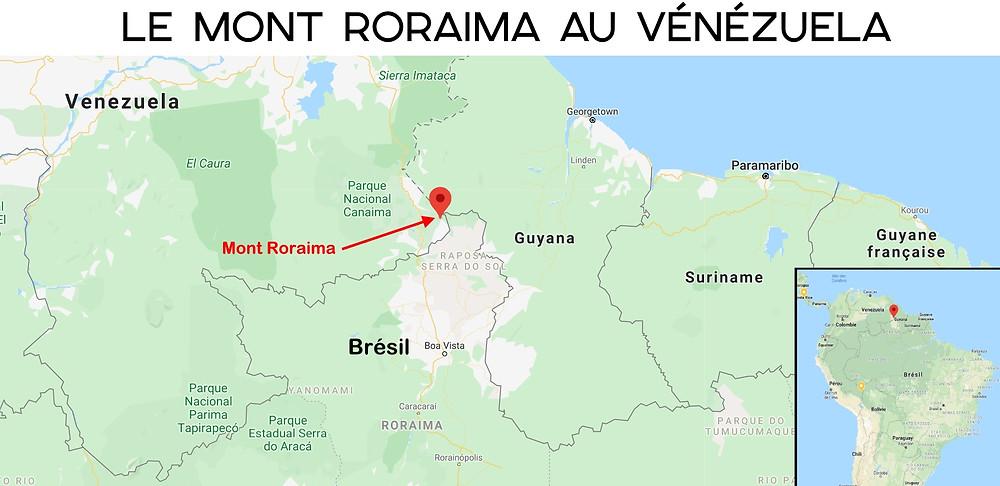 Mont Roraima carte