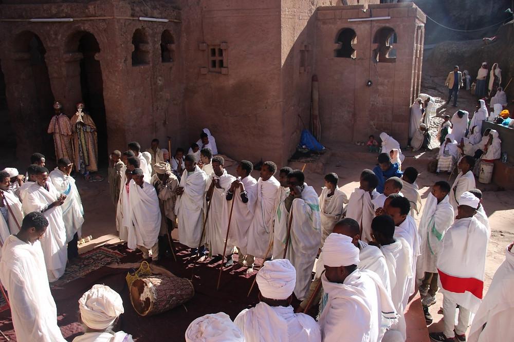 Lalibela Ethiopie cérémonie