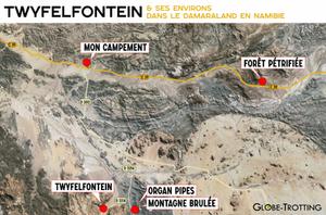 Carte Map Twyfelfontein Damaraland