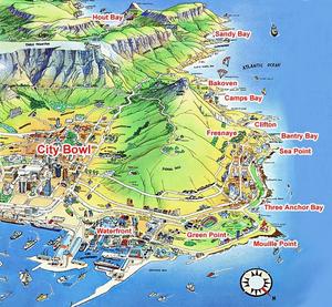 CapTown carte touristique afrique du sud