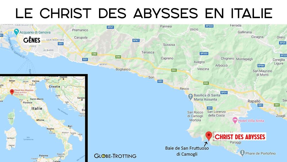 Carte Christ des Abysses San Fruttuoso di Camogli