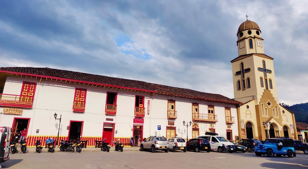 Eglise Salento en Colombie