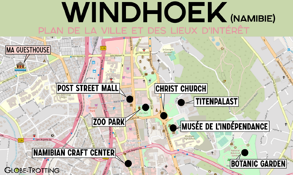 Plan de Windhoek map