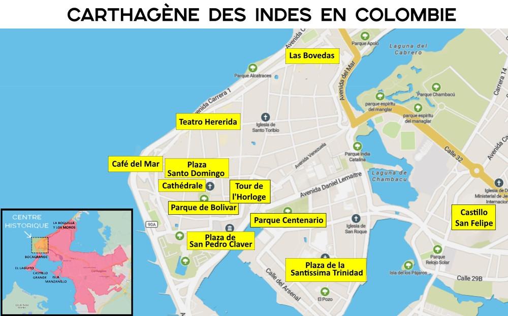 Plan touristique Carthagène des indes colombie