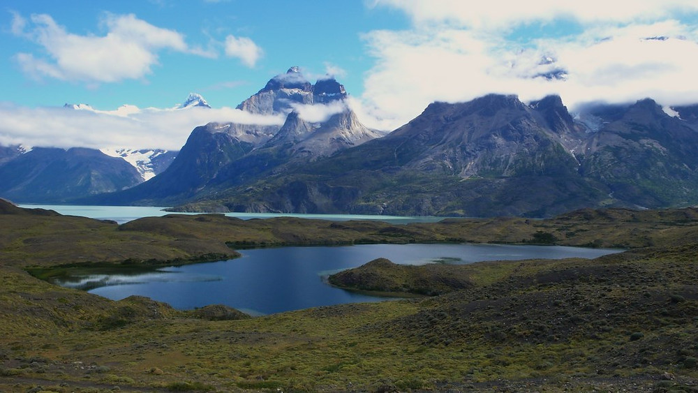torres del paine vue lac montagne