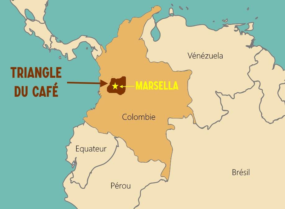 Marsella Colombie Carte
