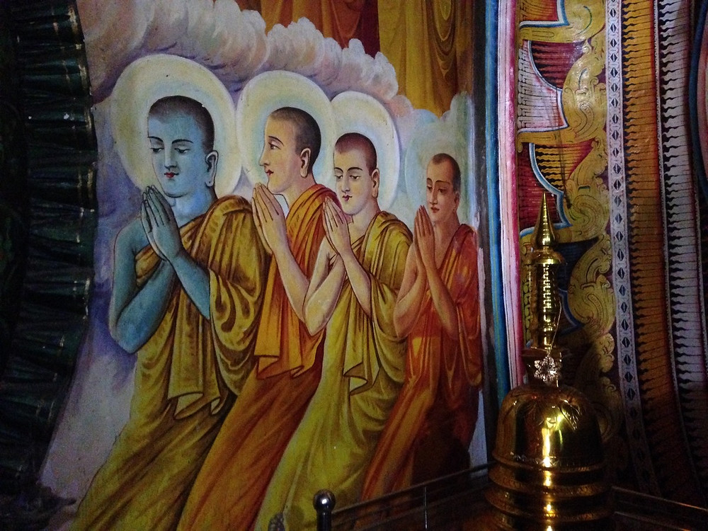 peintures bouddha Anuradhapura