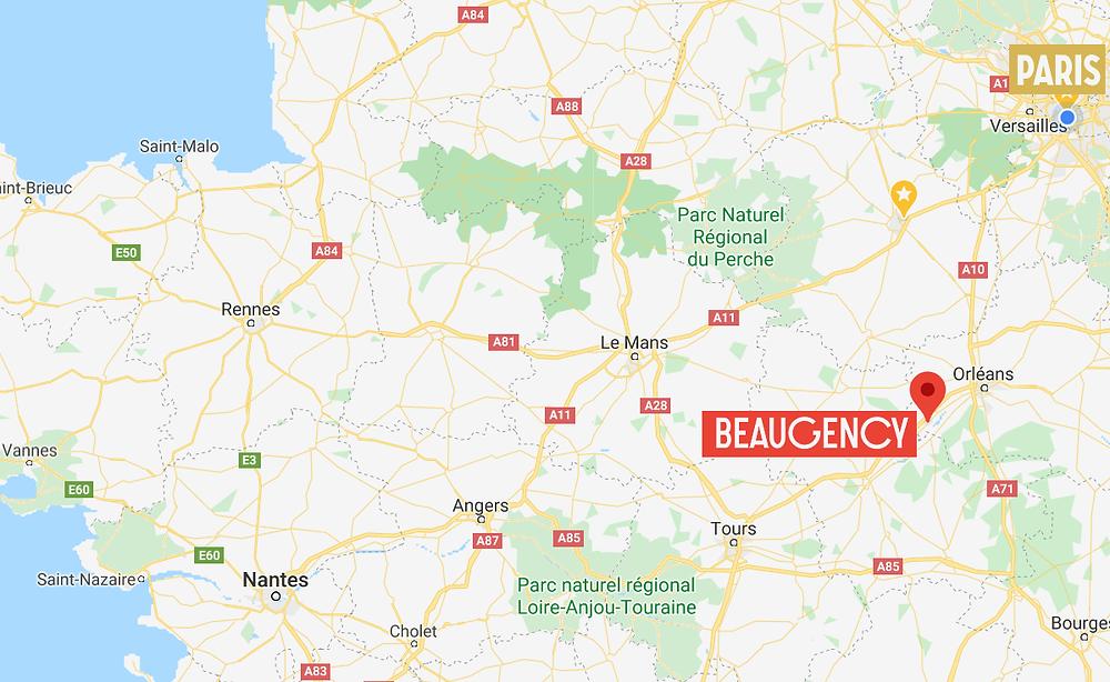Beaugency carte de France