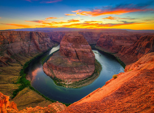 Le Horseshoe Bend en Arizona (Etats-Unis)