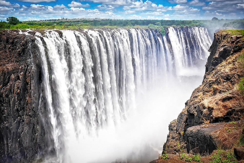 Chutes victoria vue depuis zimbabwe