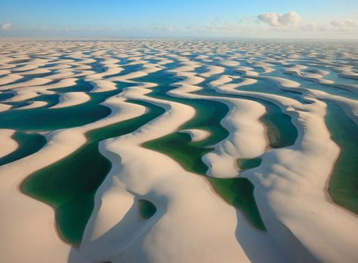 Le désert blanc des Lençois Maranhenses au Brésil