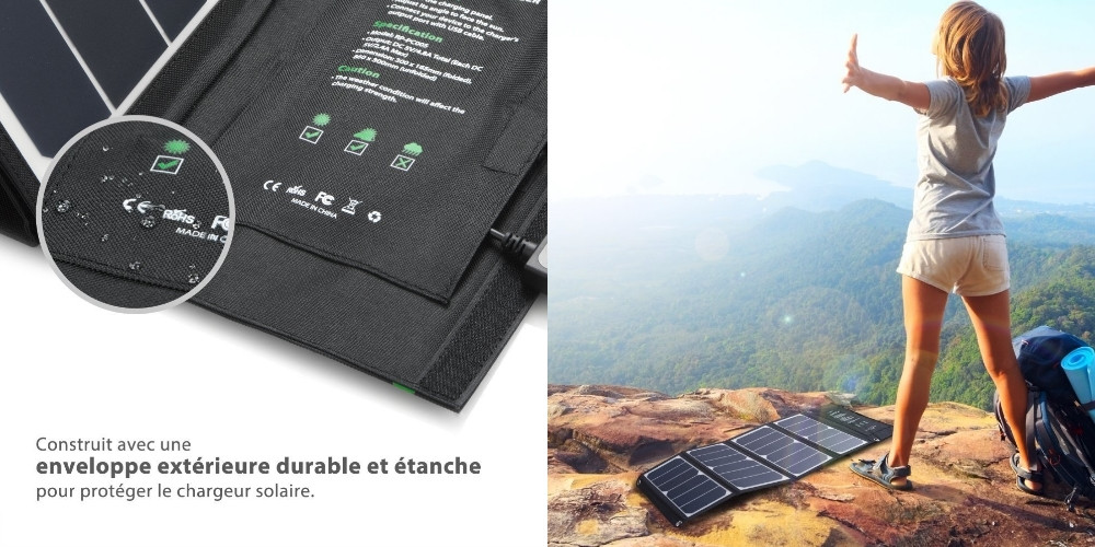 chargeur solaire voyage montagne