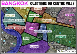 Carte quartiers de Bangkok