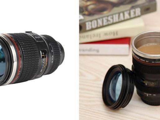 Une tasse à café objectif photo Canon
