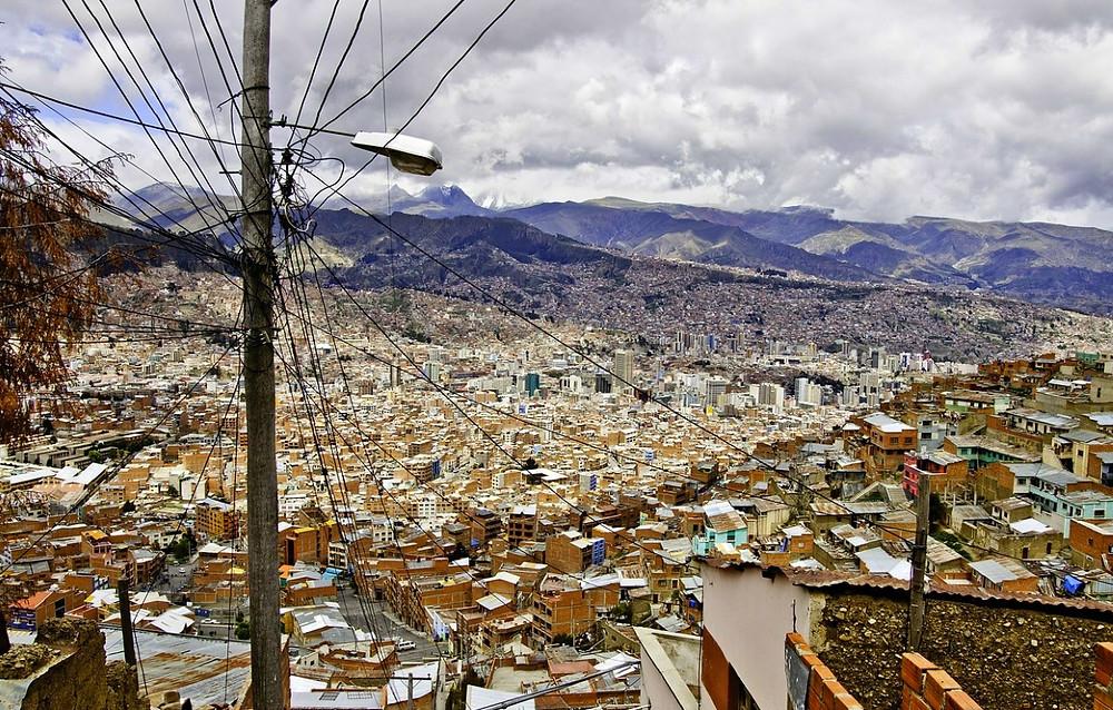 La Paz depuis le téléphérique