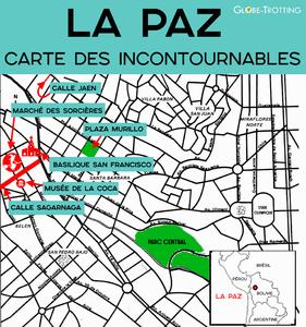 Carte Plan touristique de La Paz