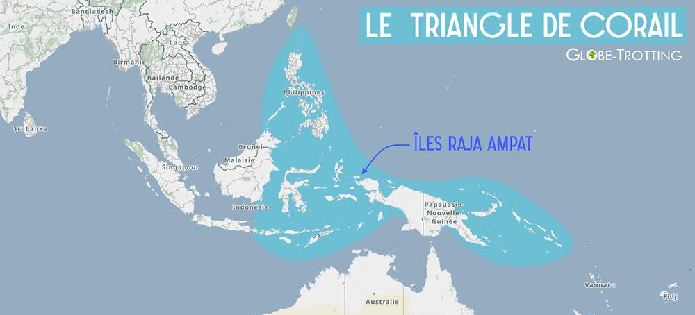 Carte Iles Raja Ampat Triangle Corail