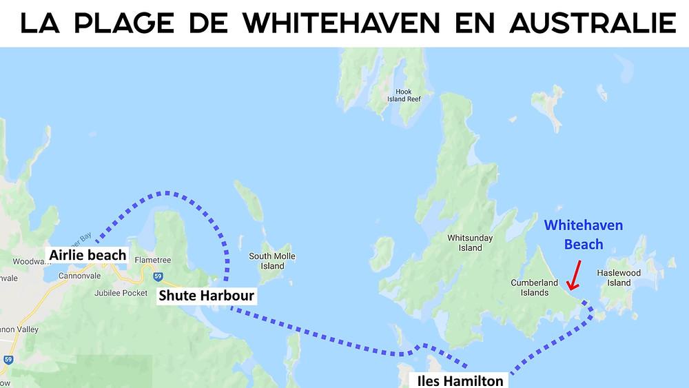 Bateaux Whitehaven Carte