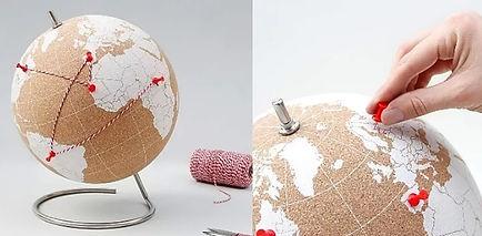 Globe terrestre en liege