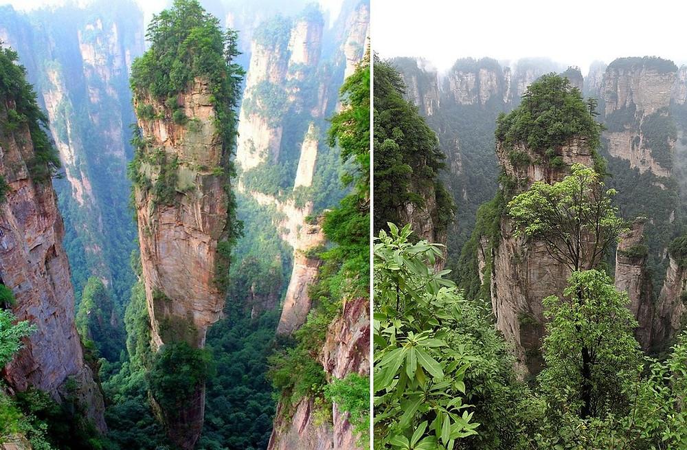 montagnes de Tianzi Yuanjiajie