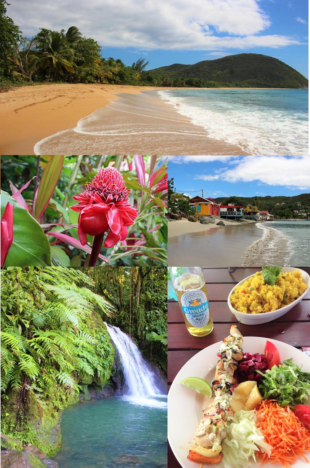 basse terre en Guadeloupe, paysages, plages et cascades