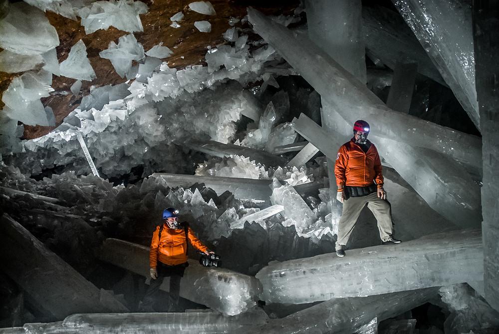 caverne de cristal de la Mine Naïca au Mexique