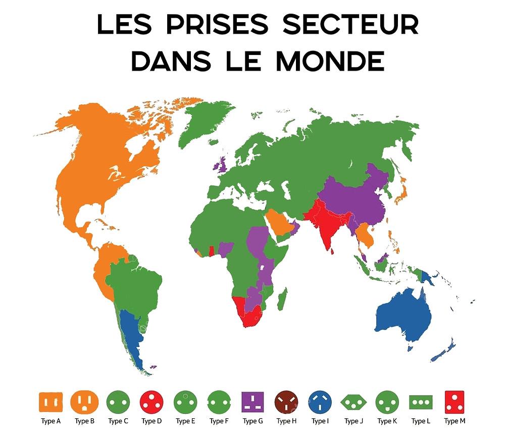 Carte prises dans le monde