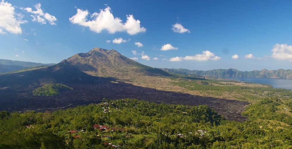 vue sur le volcan Batur