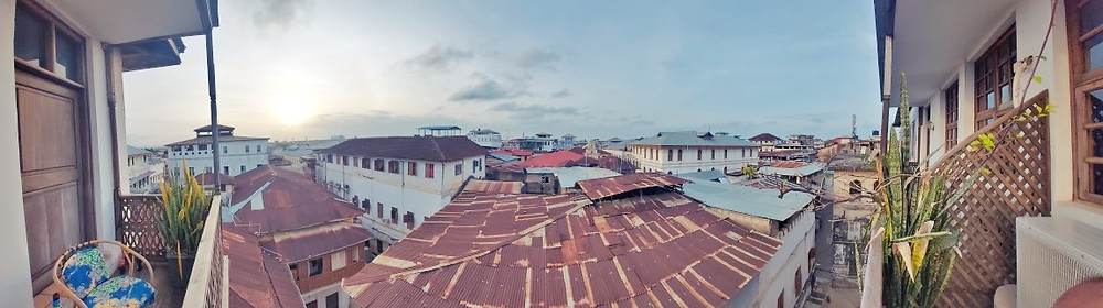 hotel stone town vue toits