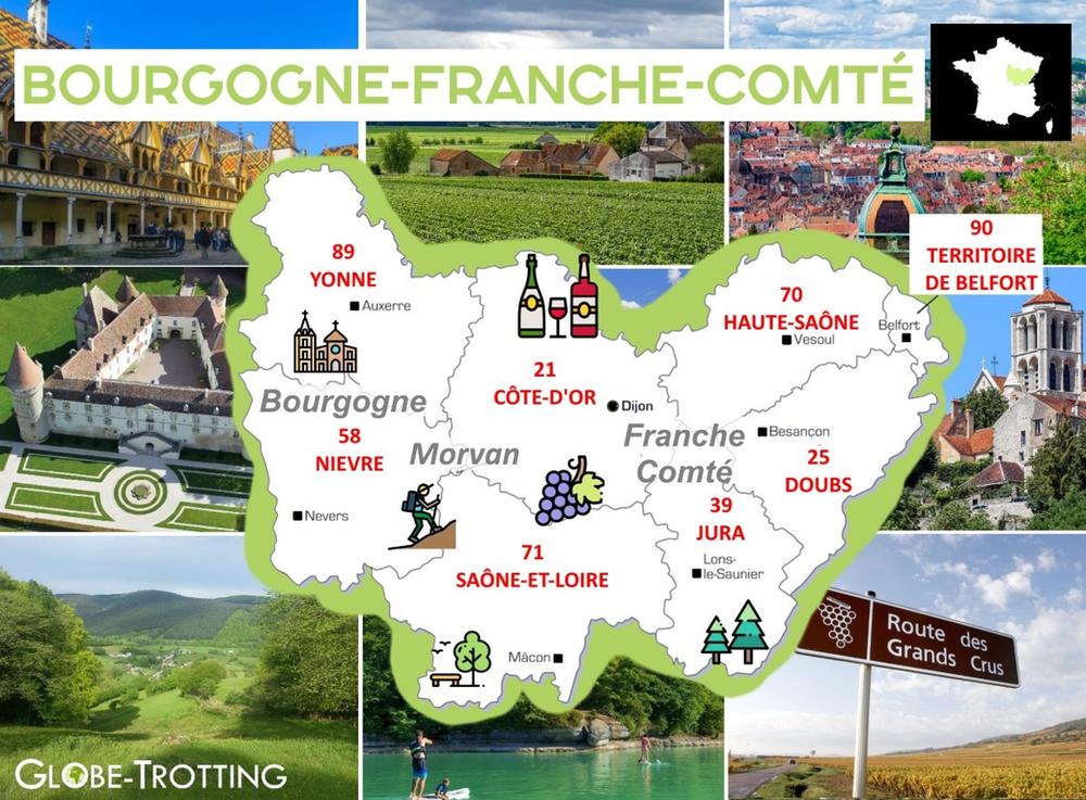 Ou partir France région bourgogne franche comté